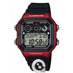 Casio Collection AE-1300WH-4A-Rojo