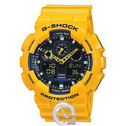 Casio G-SHOCK GA-100A-9A Amarillo