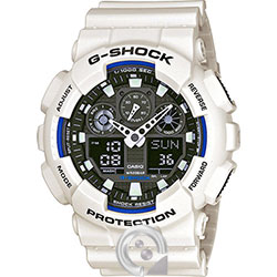 Casio G-SHOCK GA-100B-7A Blanco