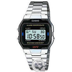 Casio Collection A-163WA-1Q Plateado